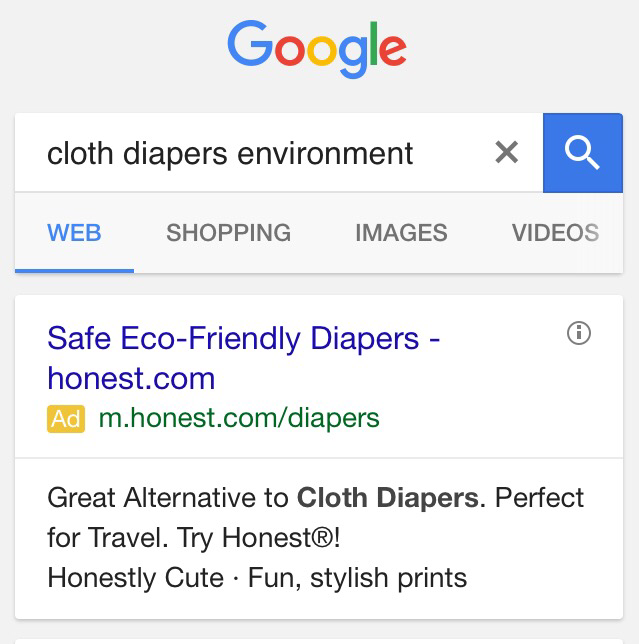 honest co diapers cloth
